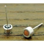 Copper Circles Silver Stud Earrings