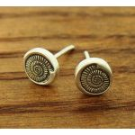 ammonite stud silver earrings