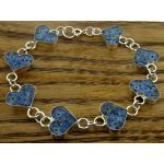 Heart Forget-me-not Silver Flower Bracelet