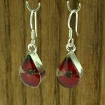 Teardrop Poppy Silver Earrings