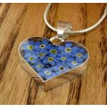 Real Pressed Forget-me-nots Pendant