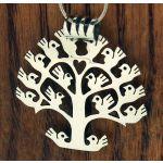 Orbed Handmade Tree of Life Silver Pendant