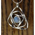 Moonstone Squiggle Silver Pendant