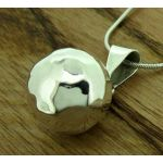 Chime Hammered Silver Ball Pendant