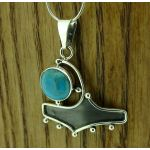 Zeppelinistic Turquoise Silver Pendant