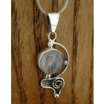 Spiral Eye Moonstone Silver Pendant