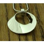 Polished Caracol Silver Pendant