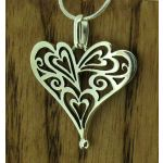 Mexican Heart of Hearts Silver Pendant