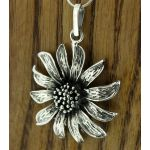Sunflower Silver Pendant