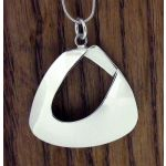 Abstract Polished Silver Pendant