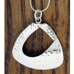Abstracto Hammered Silver Pendant