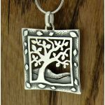 Framed Tree Silver Pendant (268)