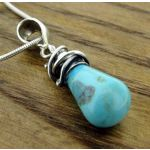 Turquoise Alambres Silver Pendant