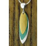 Textured Leaves Silver Pendant