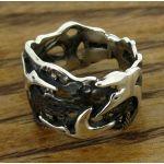 Handmade Silver Ring with Hummingbirds
