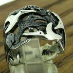 Hummingbird Fly Sterling Silver Ring