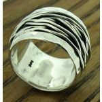 Wired Band Silver Ring