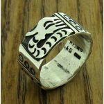 Mayan Serpent Silver Ring