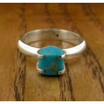 Turquoise Corazon Silver Ring