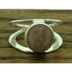 Centrical Rose Quartz Silver Ring (207)