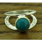 Centrical Turquoise Silver Ring