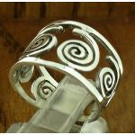 Ginello Spiral Silver Ring (216)