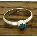 Turquoise Bubble Stone Silver Ring
