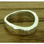 Hammered Twist Silver Ring
