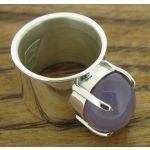 Castillo Purple Agate Silver Ring