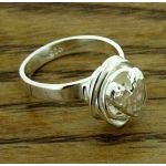 Knotted Heart Silver Ring
