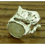 One of a Kind Rutilated Quartz Silver Ring
