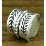 Thai Leaf Silver Ring