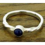 Twisted Lapis Lazuli Silver Ring