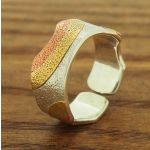 Copper & Brass Rainbow Silver Ring