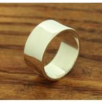 Classic chunky silver ring