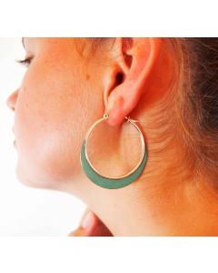 Patina Copper & Silver Hoops