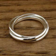 3 Strand Silver Ring