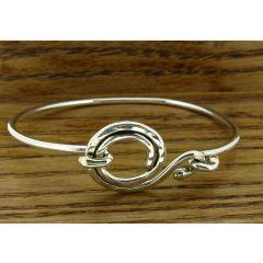 Spiral Clasp Silver Bracelet