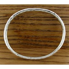 Oval Hammered Silver Bangle