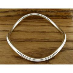Polished Curvey Silver Bangle