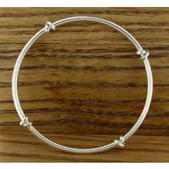 Knotted Silver Bangle