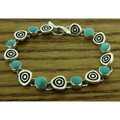 Turquoise ondas silver bracelet