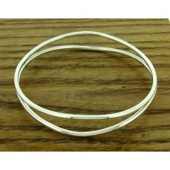 Mezcla Silver Bangle