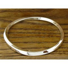 Torcidos Polished Silver Bangle
