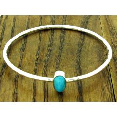 Turquoise Aviva Silver Bangle