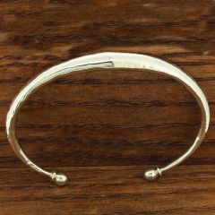 Hammered Cones Silver Torque Cuff Bracelet