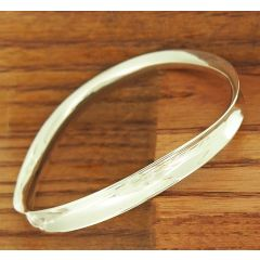 Ondulado Polished Silver Bangle