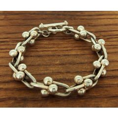 Trio 6mm Ball Silver Bracelet
