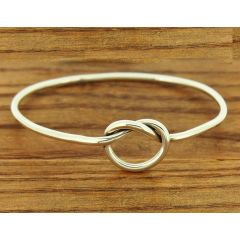 Twisted Loop Silver Bangle
