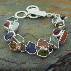 Semi-precious Chunky Silver Bracelet (3)